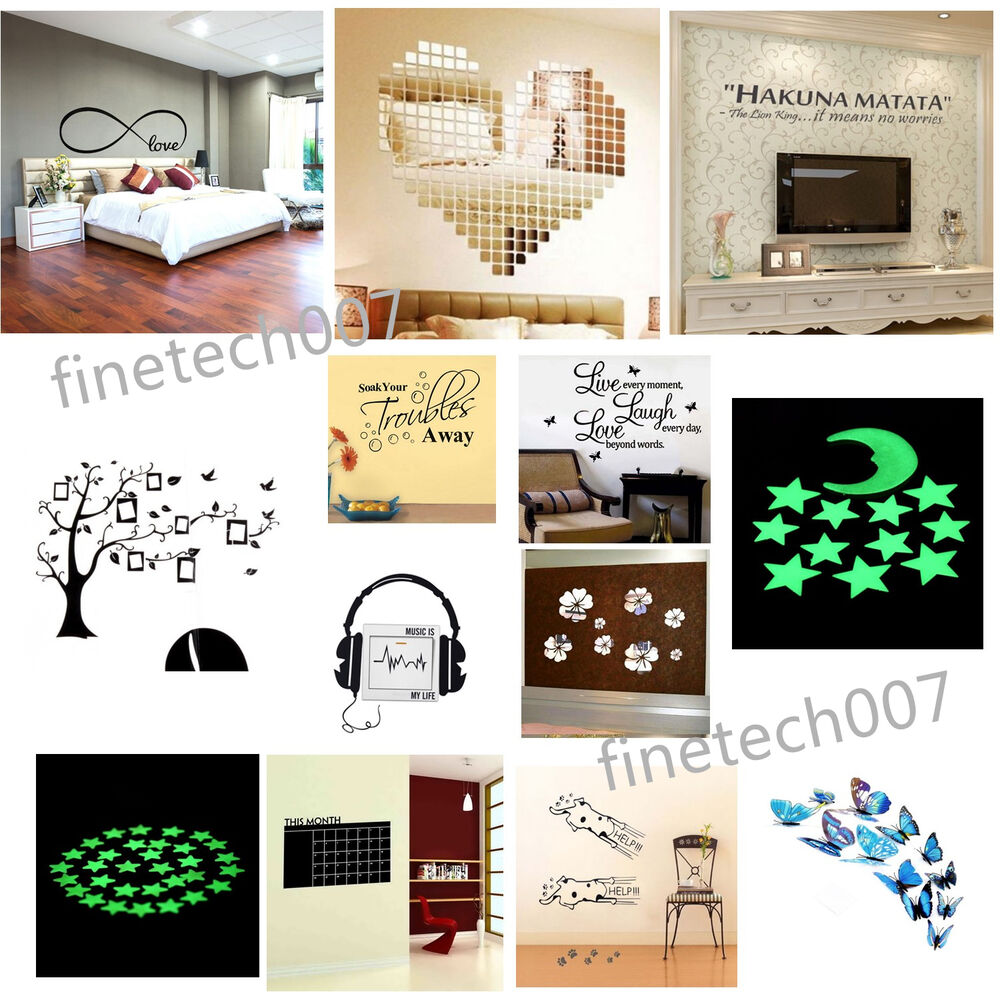 Quote Word Decal Vinyl Diy Home Room Decor Art Wall Sticker Bedroom Removable Fs Ebay
