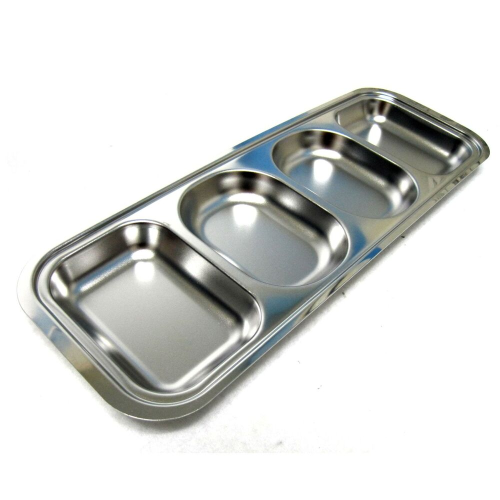 Divided stainless steel kids snack tray food diet