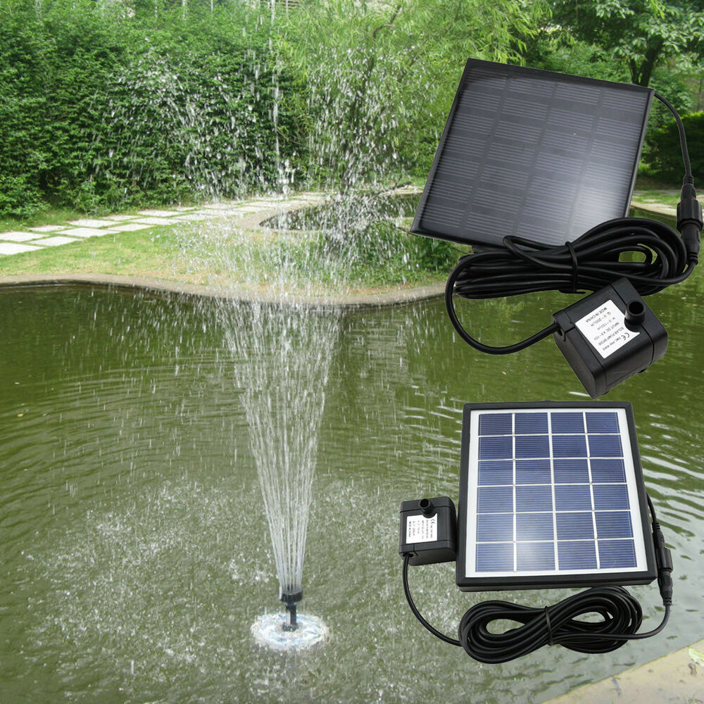 Solar panel powered lawn garden pool spray water valve for Garden pond kit