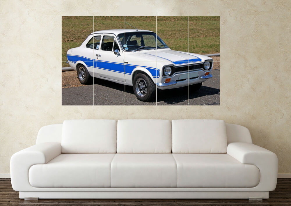 Large ford escort mk1 rs2000 mexico rally car wall poster for Home decor s13 9ad