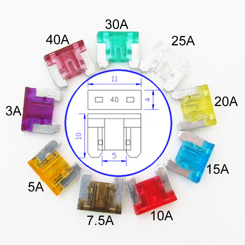 50pcs car truck micro mini low profile blade fuse 3  5  7 5