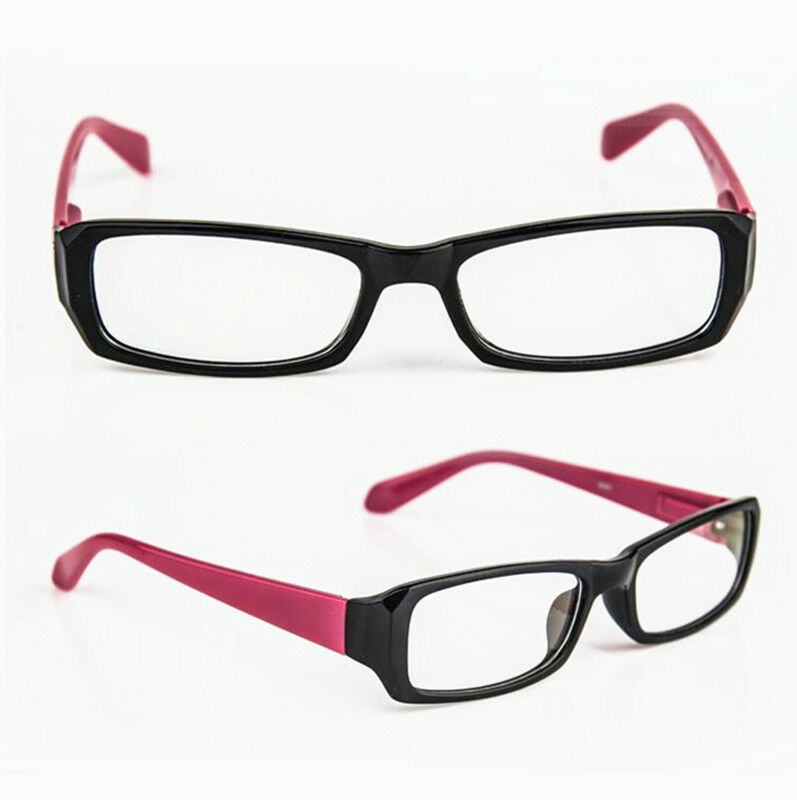 Rimless Distance Glasses : Square Frame Black Purple Myopia Eyeglasses NEARSIGHTED ...
