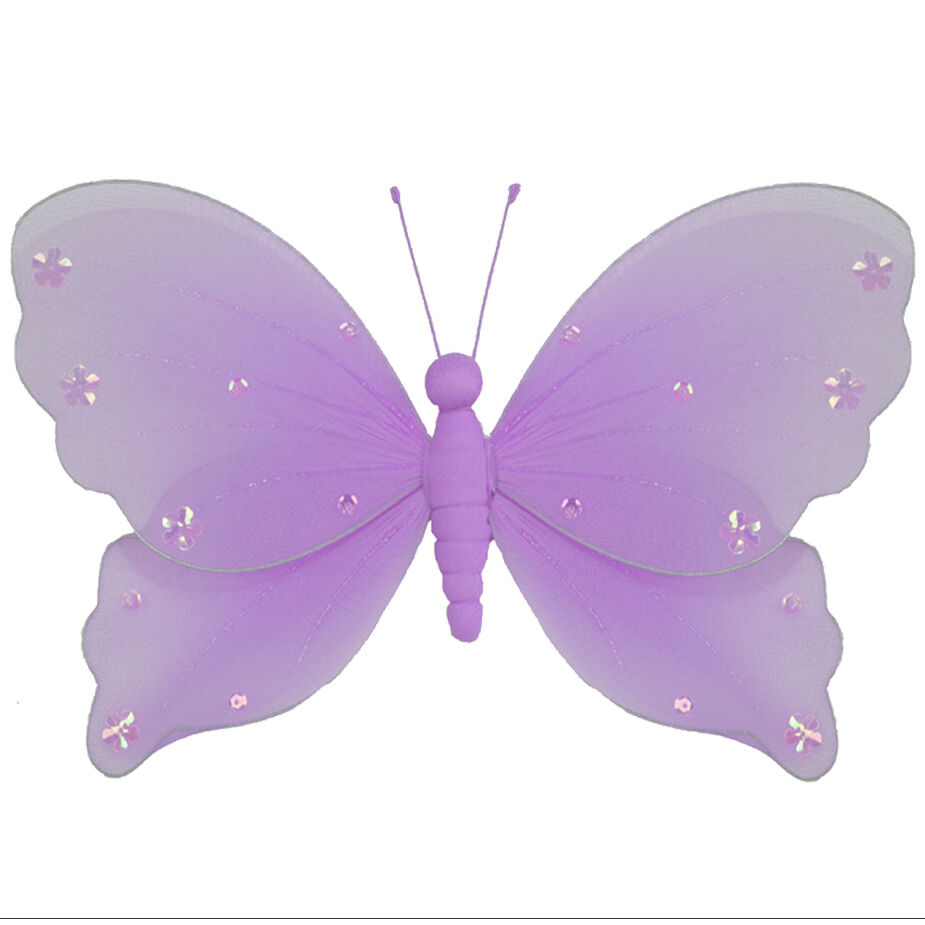 Butterfly Decor Home Purple Wedding Hanging Wall Ceiling