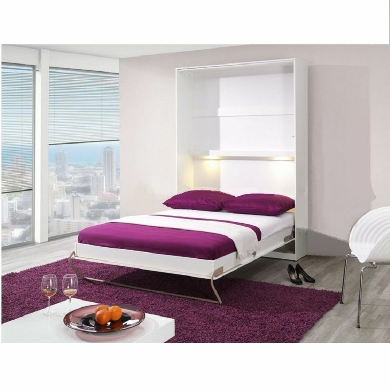 multifunctional vertical pull out bed fold down away wall bed upright small dbl ebay. Black Bedroom Furniture Sets. Home Design Ideas