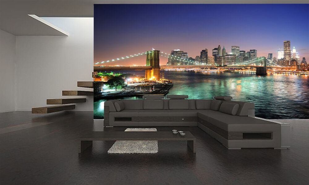 New york city manhattan wall mural photo wallpaper giant for Poster mural geant new york