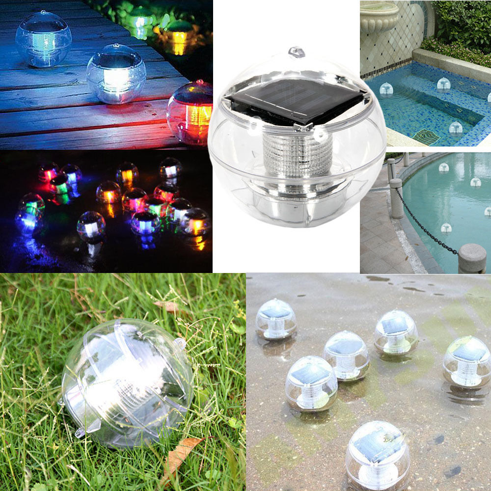 Solar Floating Pond Pool Rotate Rgb Lamp Led Lawn Garden Light Color Changing Ebay
