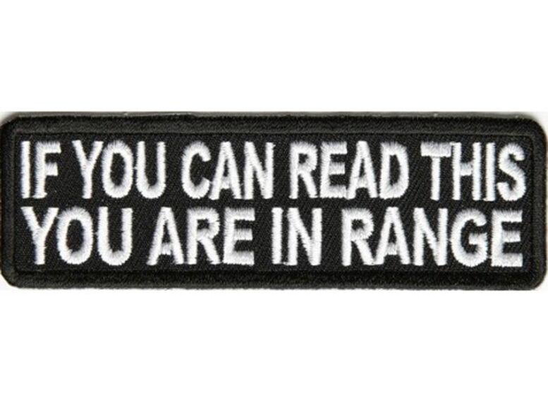 Biker Vest Patches >> IF YOU CAN READ THIS YOU ARE IN Embroidered Vest Funny Saying Biker Patch Emblem | eBay