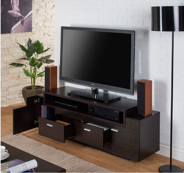 Tv stand home entertainment media center 60quot flat screen for 100 inch media console