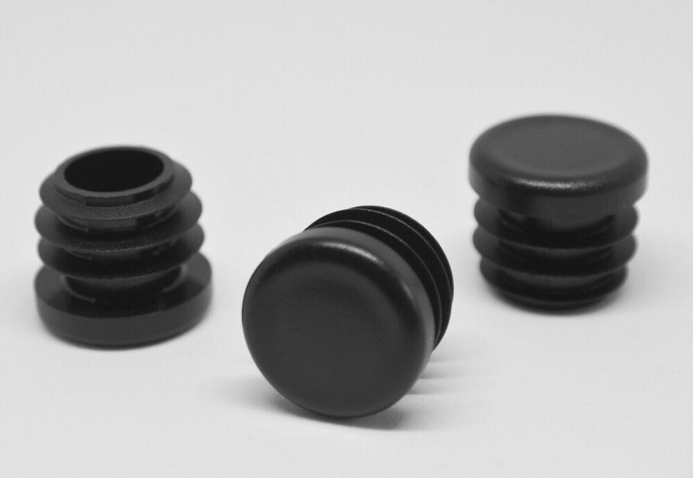 Mm round plastic end caps pipe inserts plugs steel