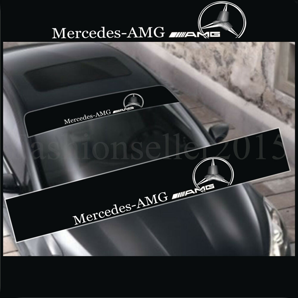 Reflective AMG Front Windshield Decal Vinyl Car Stickers