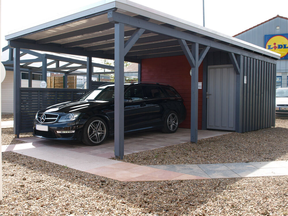 carport doppelcarport 6 00 x 9 00 m aus kvh mit ger teraum 6 00 x 3 00 m ebay. Black Bedroom Furniture Sets. Home Design Ideas