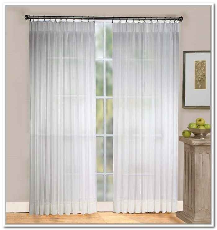 Batiste Sheer Pinch Pleated Drapes 84 Long 96 Custom Size Per Panel Ebay