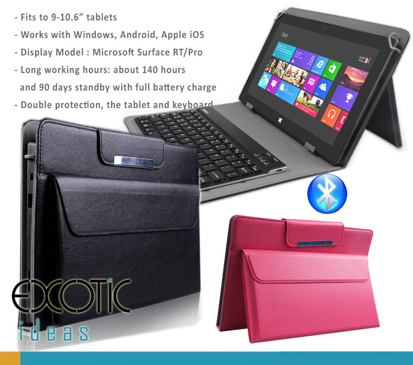for Sony Xperia Tablet Z4, Z2, Z1 Leather Cover with pouch ...