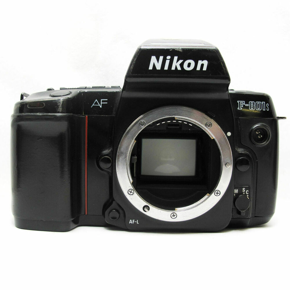 Nikon f801s 35mm slr film camera body only black for Camera and camera