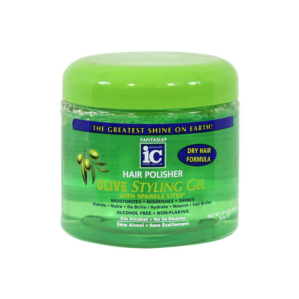 hair styling gel fantasia ic hair polisher olive styling gel with sparkle 4850
