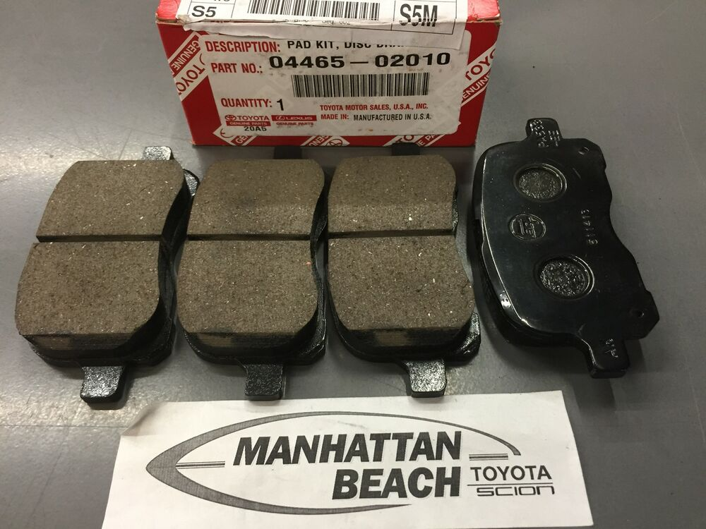 Toyota Brake Pads >> 1999-2002 COROLLA WITH/ABS Front Brake Pads Genuine Toyota ...