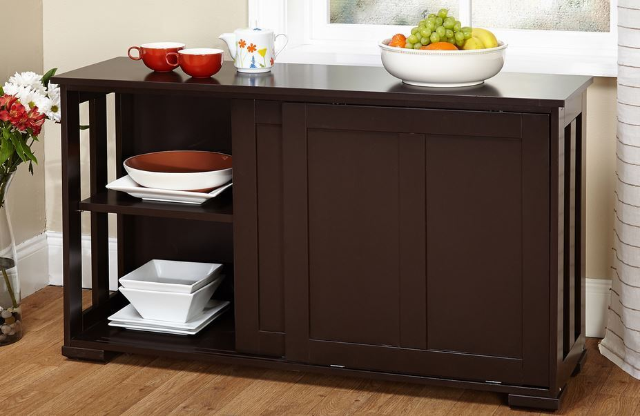 kitchen storage island cabinet wood buffet top cupboard counter utility table ebay. Black Bedroom Furniture Sets. Home Design Ideas