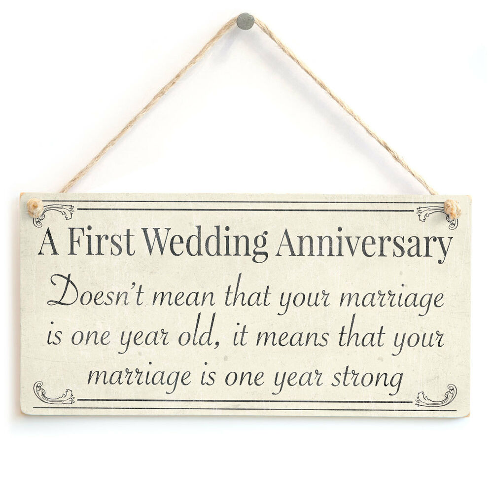First Wedding Anniversary Gifts For Her: First Wedding Anniversary Your Marriage Is One Year Old