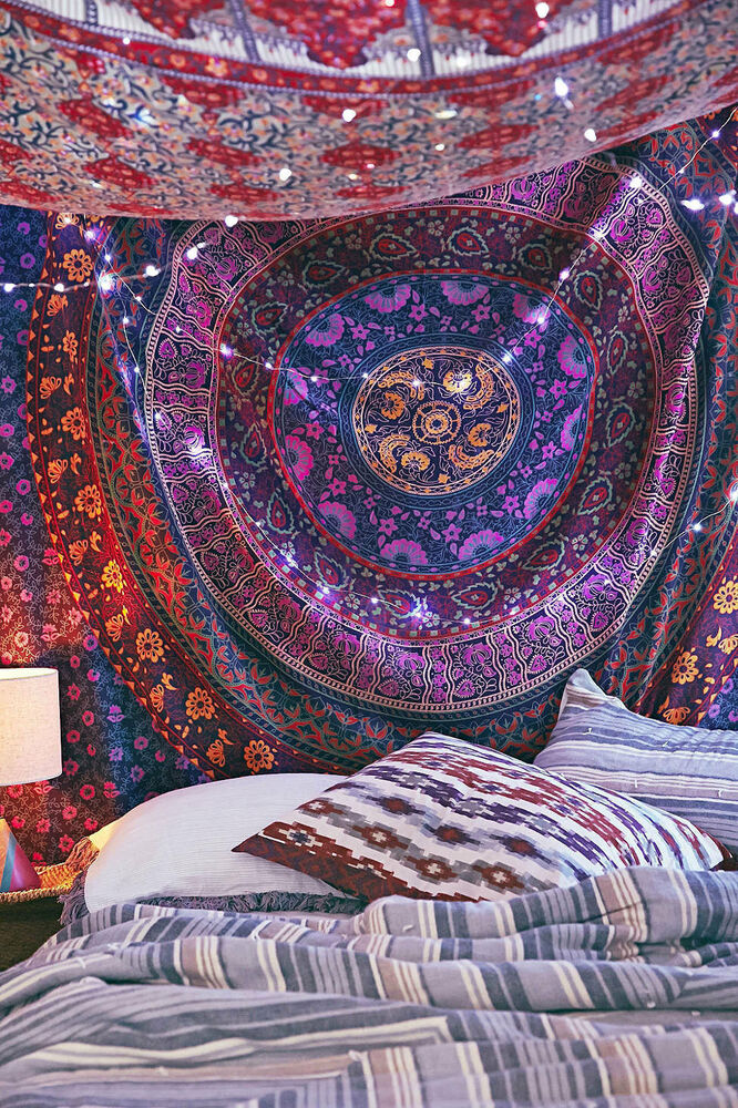 wall decor hippie tapestries bohemian mandala tapestry wall hanging indian throw ebay. Black Bedroom Furniture Sets. Home Design Ideas