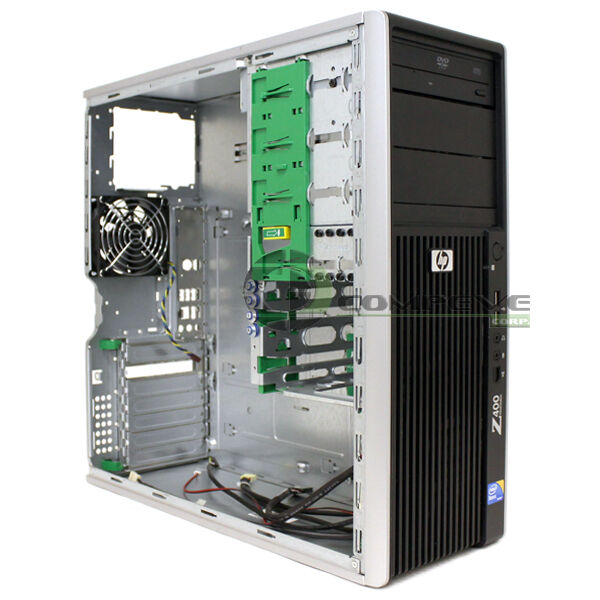 Hp Z400 Workstation Case Chassis With Front Panel Dvd Rom