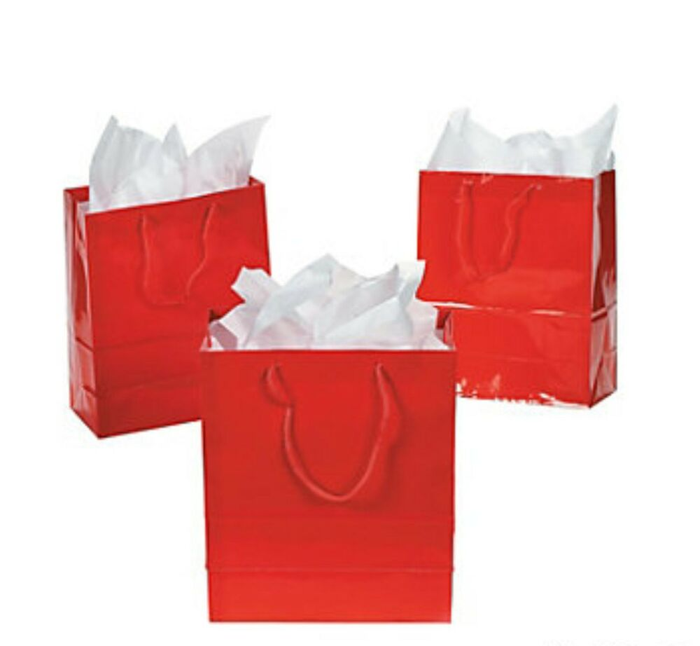 Small Gift For Wedding: 36 RED Small Gift Bags Christmas Wedding Favors