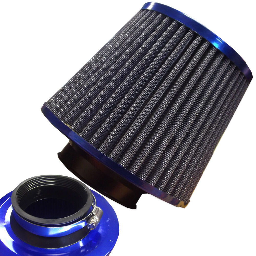 Truck Air Filter : Universal blue finish car air filter induction kit high