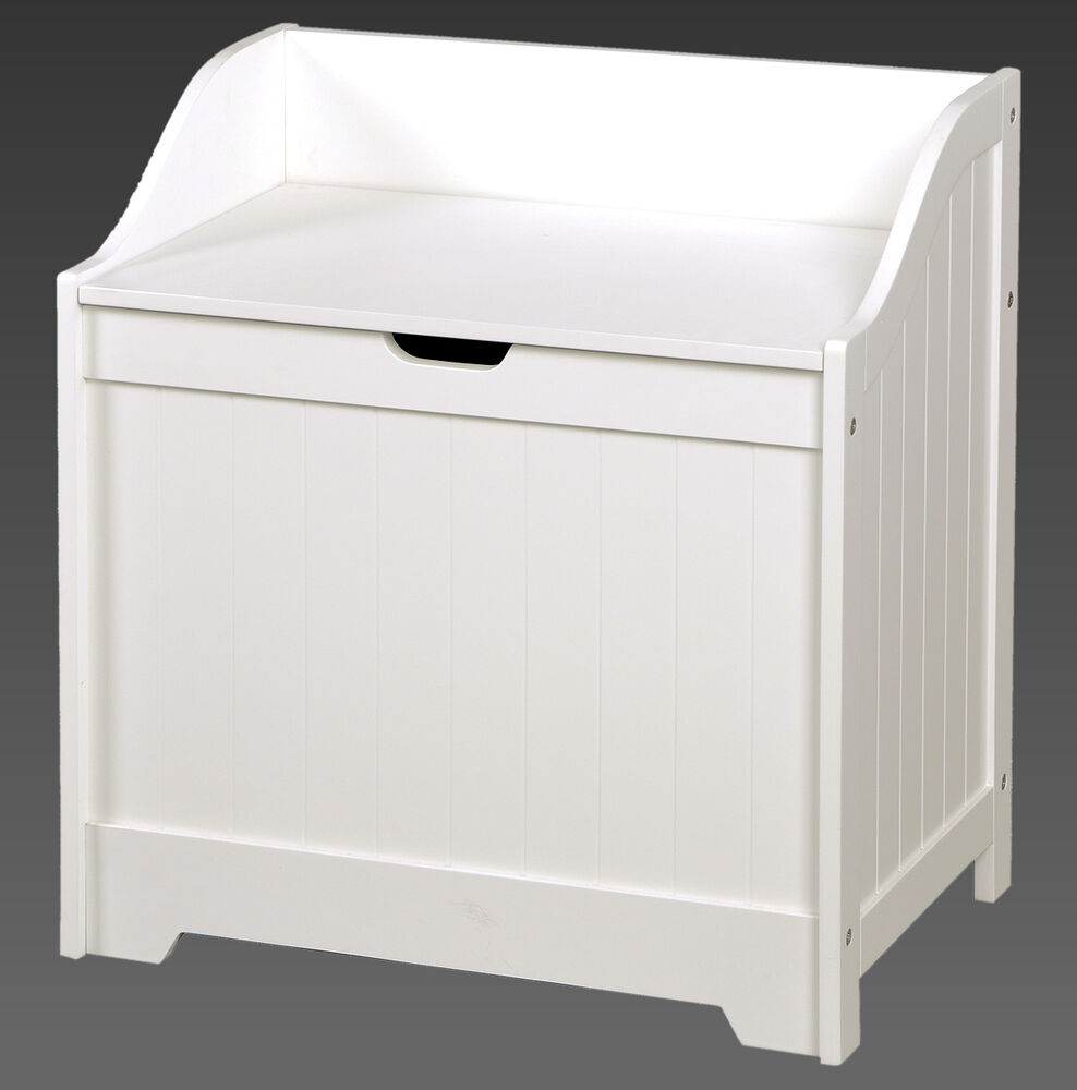 large wooden laundry bin basket white bathroom bedroom. Black Bedroom Furniture Sets. Home Design Ideas