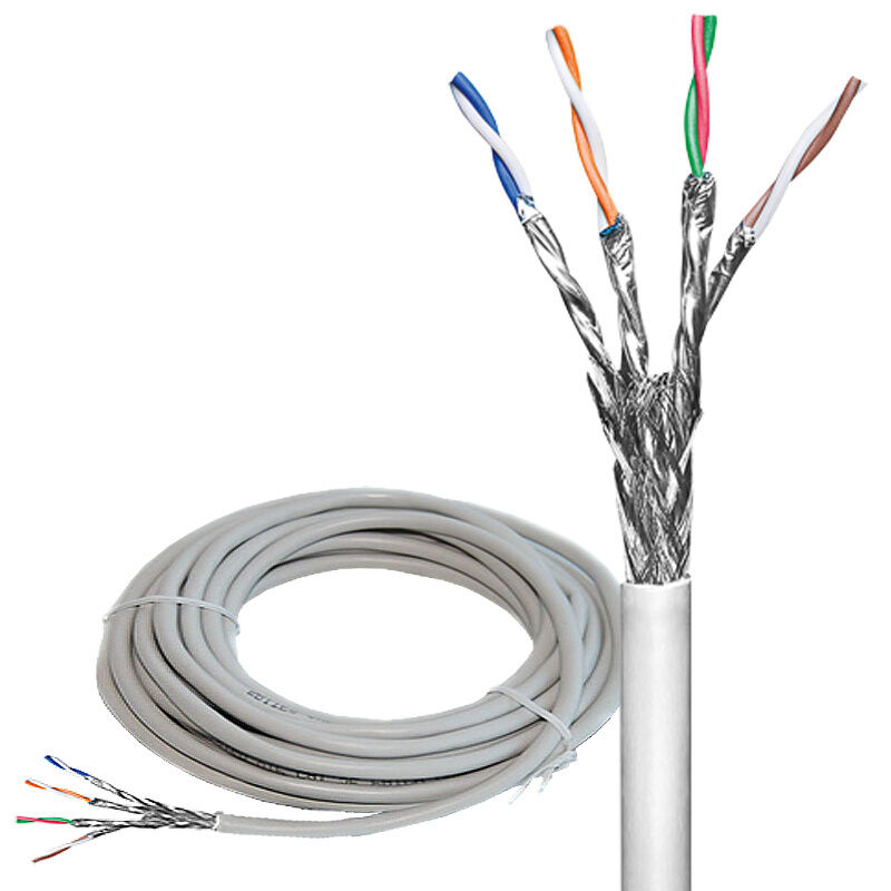 40m cat 6 netzwerk kabel verlegekabel 40 meter lan gigabit 4x2xawg23 1 s ftp cca ebay. Black Bedroom Furniture Sets. Home Design Ideas