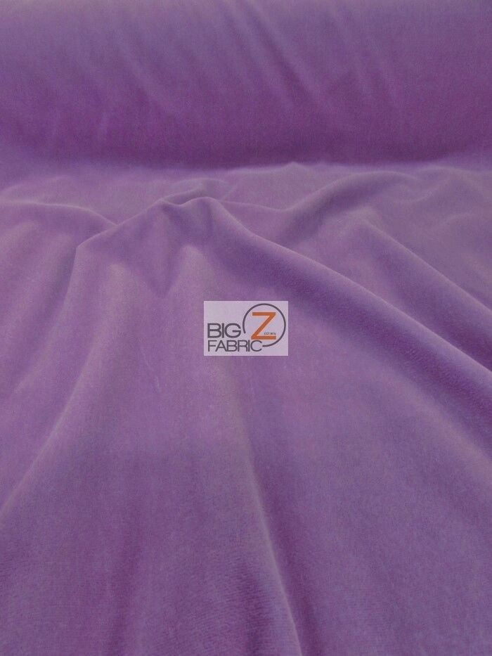 Solid triple velvet nylon fabric lavender 44 width for Apparel fabric