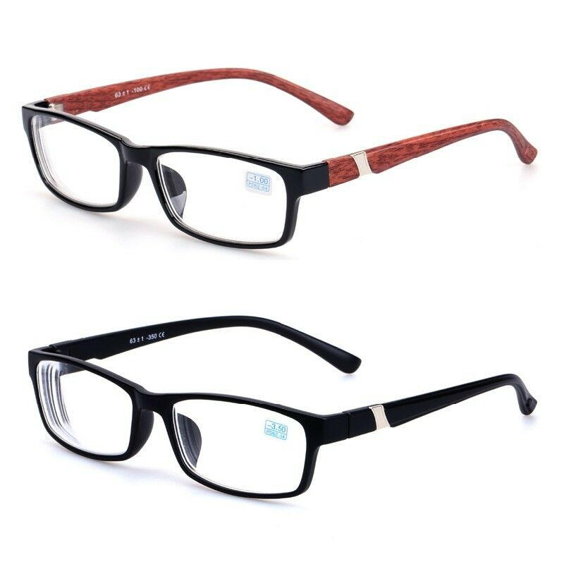 Half Frame Distance Glasses : SQUARE FRAME NEARSIGHTED Distance Myopia GLASSES -1.0~2.0 ...