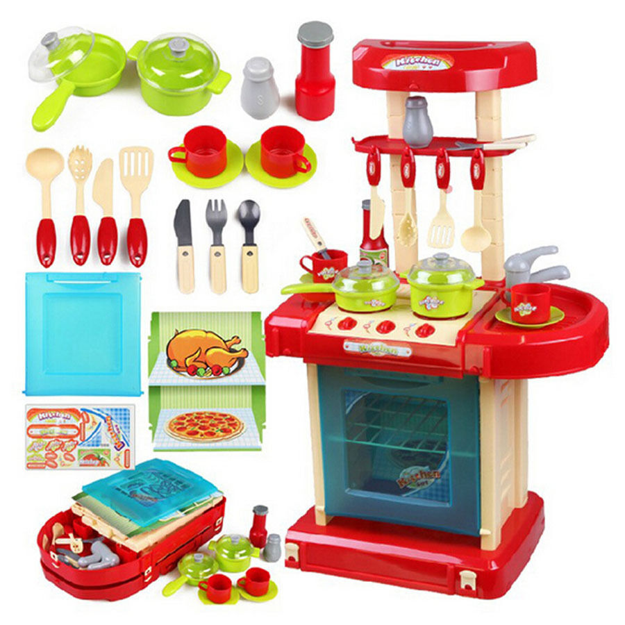 Play Toys Com : Xiongcheng red kitchen safe plastic children s kids own