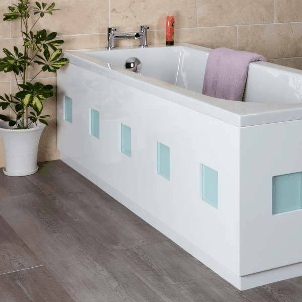 White frosted square bath 1700mm front bath panel ebay for Bathroom ideas with wooden panels