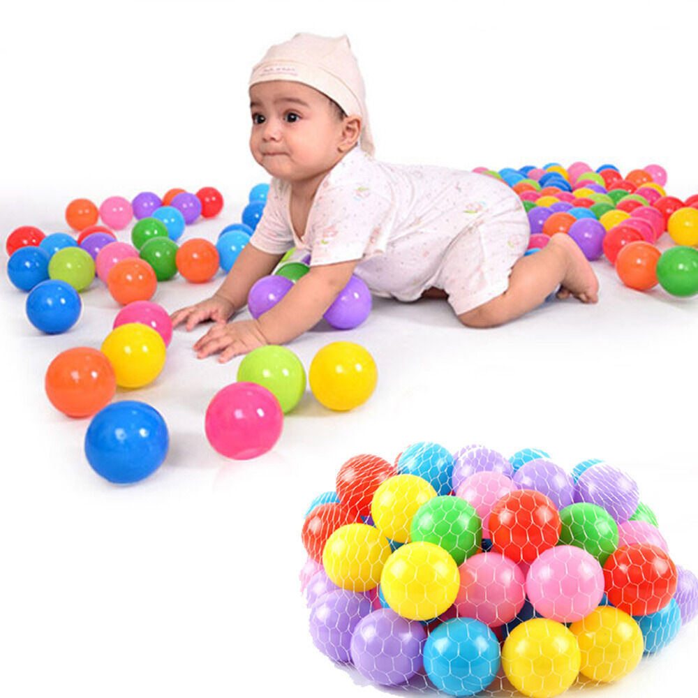 Squishy Baby Ball : 200pcs Colorful Soft Plastic Ocean Ball 70MM Safty Secure Baby Kid Pit Toys Swim eBay