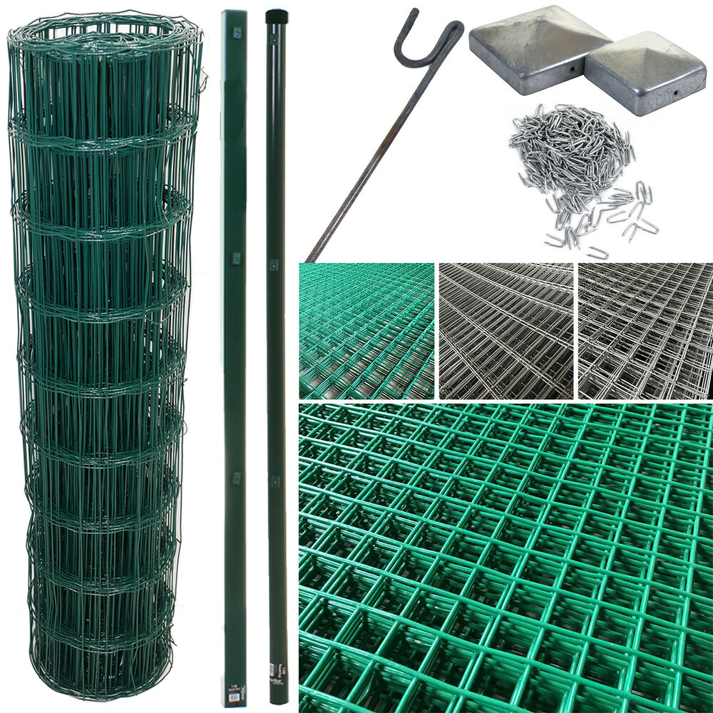 PVC COATED STEEL MESH FENCING WIRE GALVANISED NAIL SQUARE METAL ...