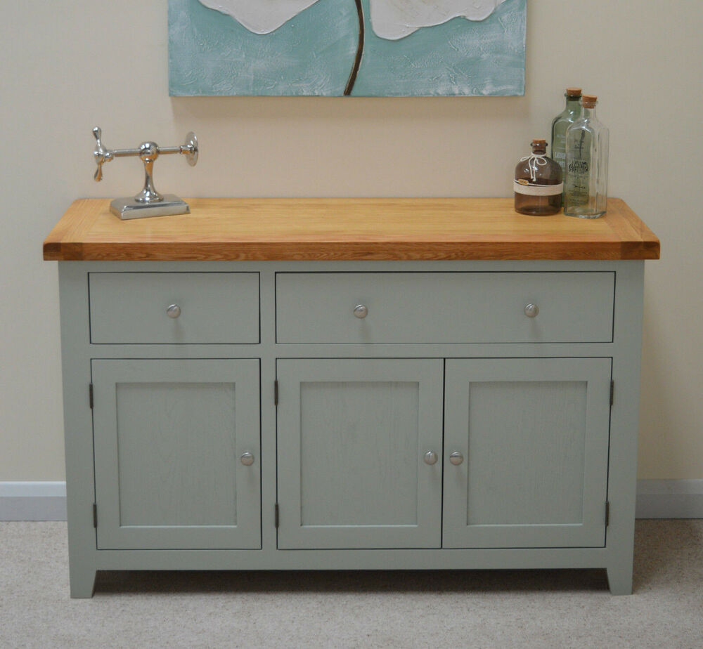 Camborne Painted Oak Large 3 Door Sideboard Storage