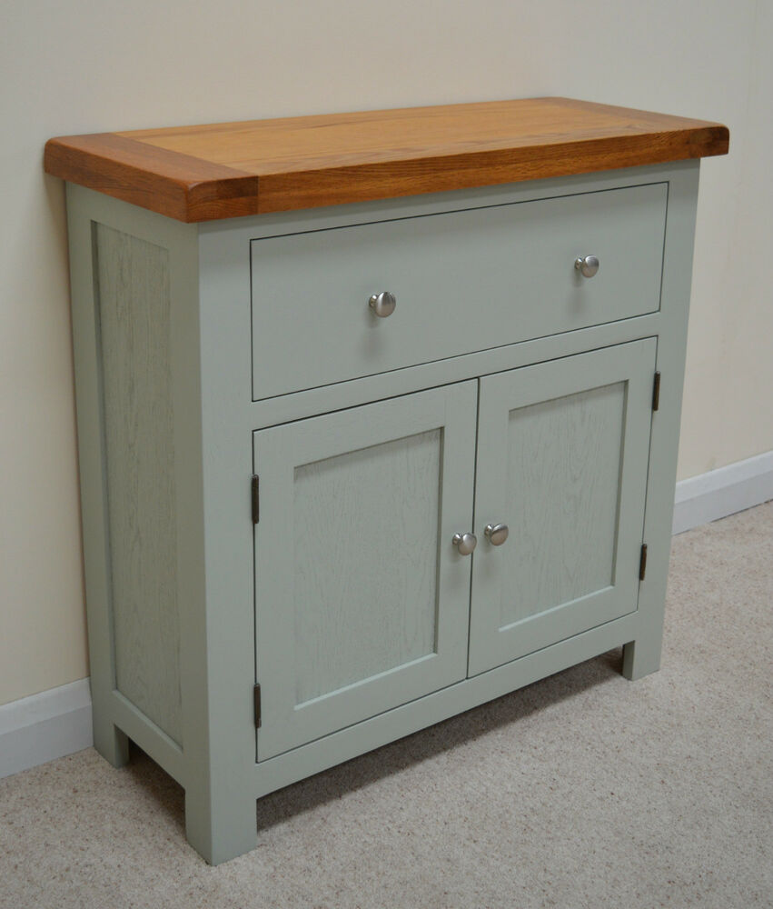 Camborne Painted Oak Mini Sideboard / Compact Storage In