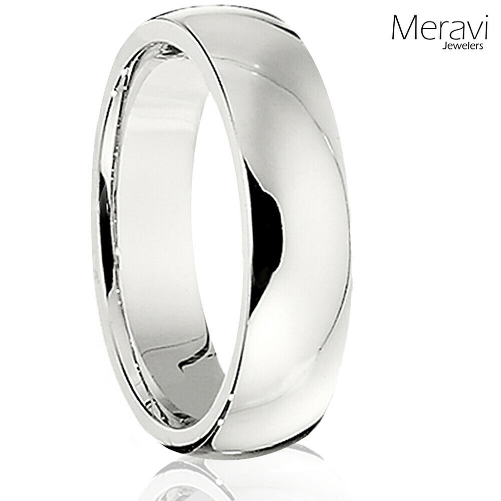 titanium silver dome wedding band comfort fit mens