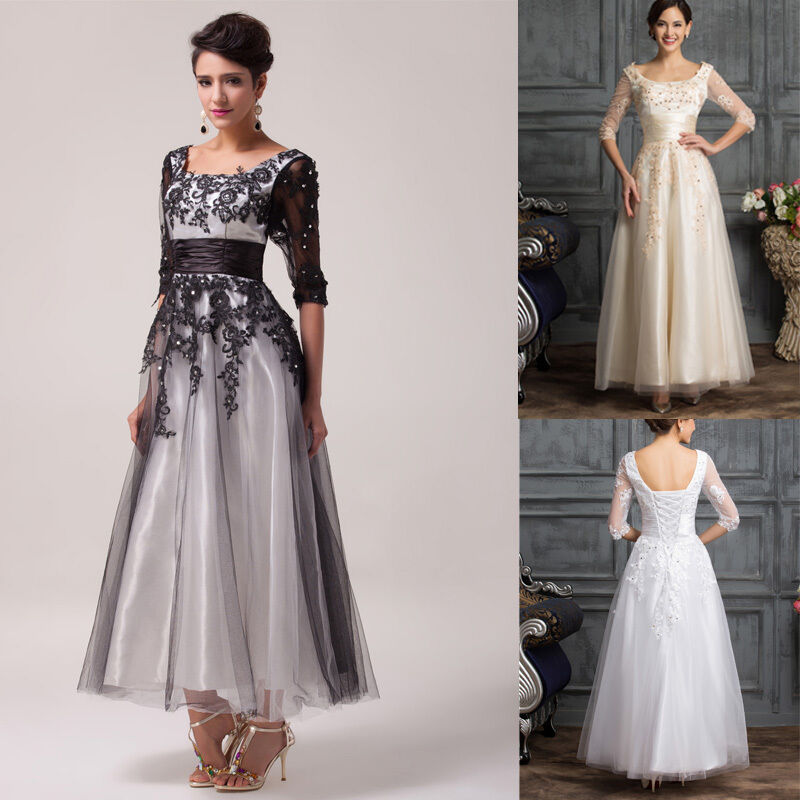 PLUS SIZE Long Evening Dress Formal Wedding Gown