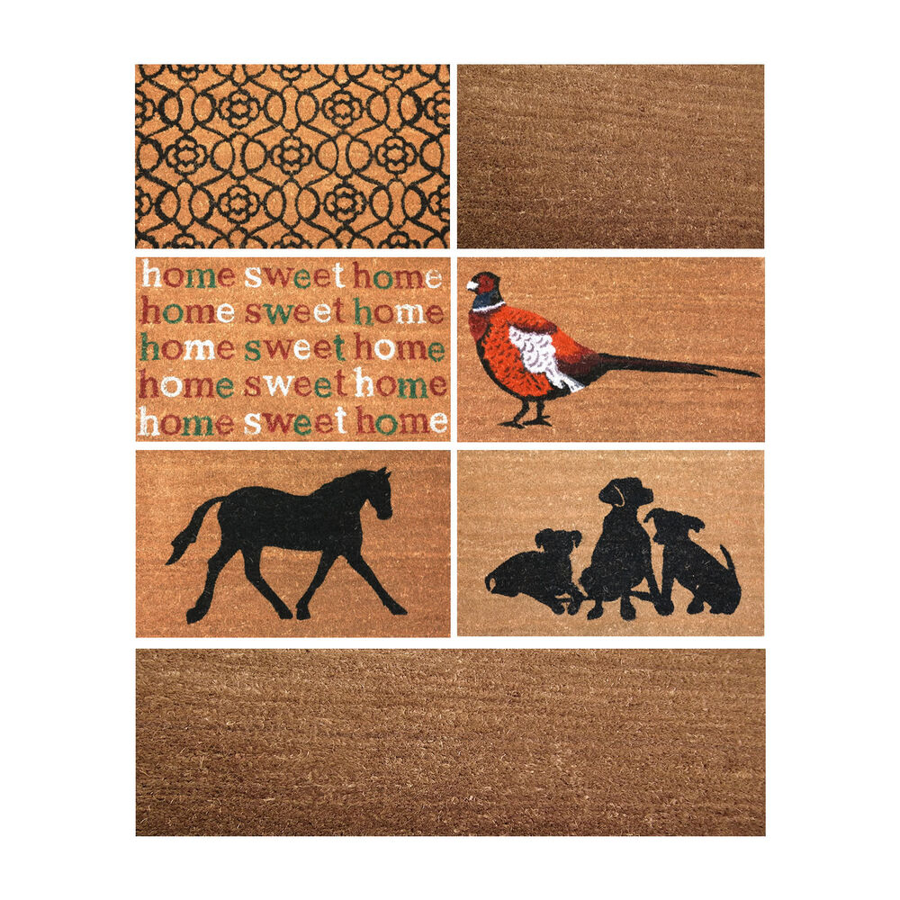 doormat large entrance outside pvc floor natural coir front door mats