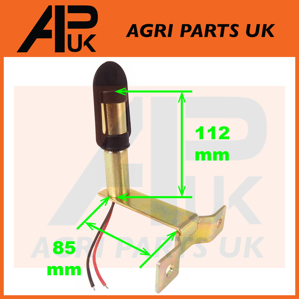 Tractor Amber Safety Lights : Rotating flashing amber beacon mount flexible din pole