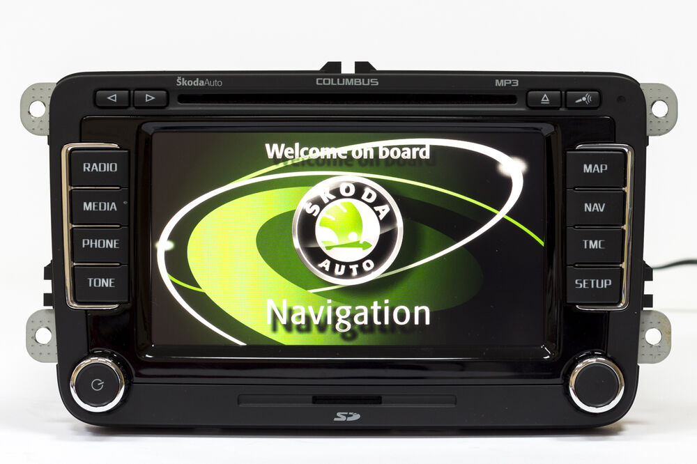 skoda columbus led v14 maps rns 510 navigationunit octavia. Black Bedroom Furniture Sets. Home Design Ideas