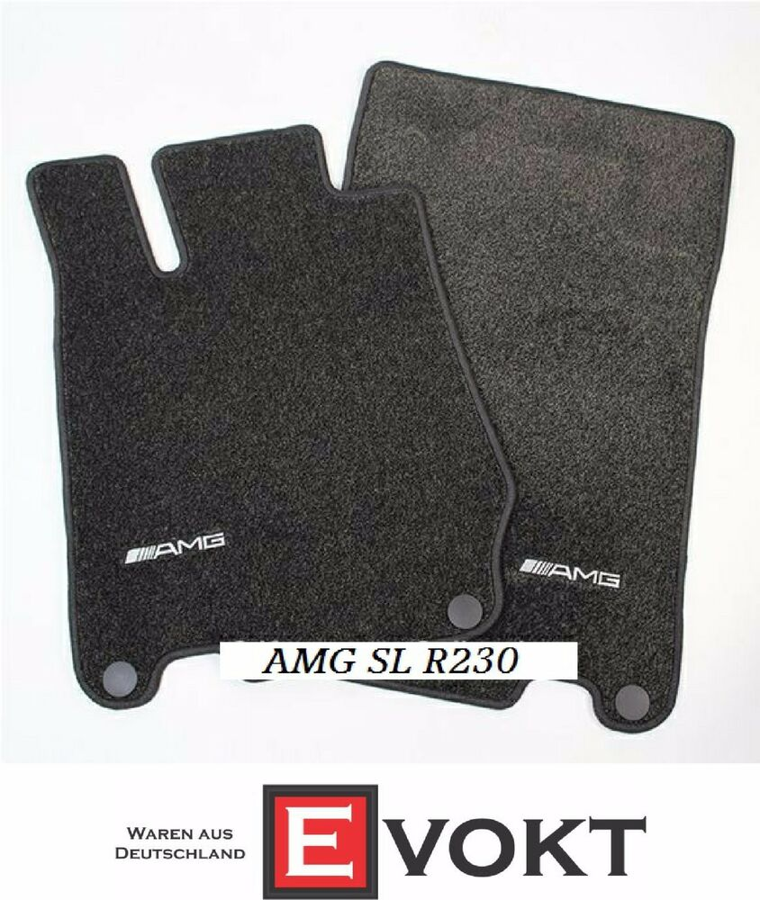 Mercedes benz amg foot floor mats for sl r230 b66037075 for Mercedes benz sl550 floor mats