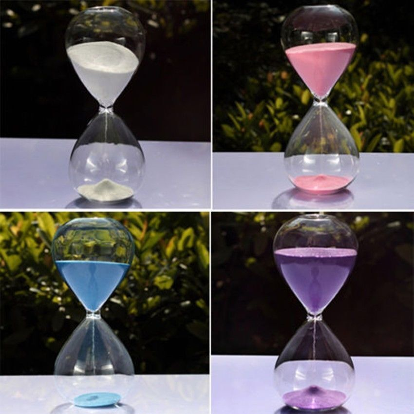new colored sand glass sandglass hourglass timer 30 60min