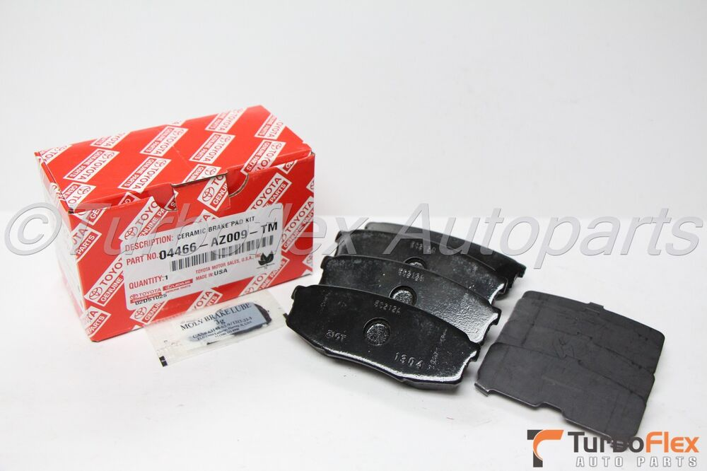toyota sequoia 2008 2015 rear ceramic brake pad set genuine oem 04466 az009 tm ebay. Black Bedroom Furniture Sets. Home Design Ideas