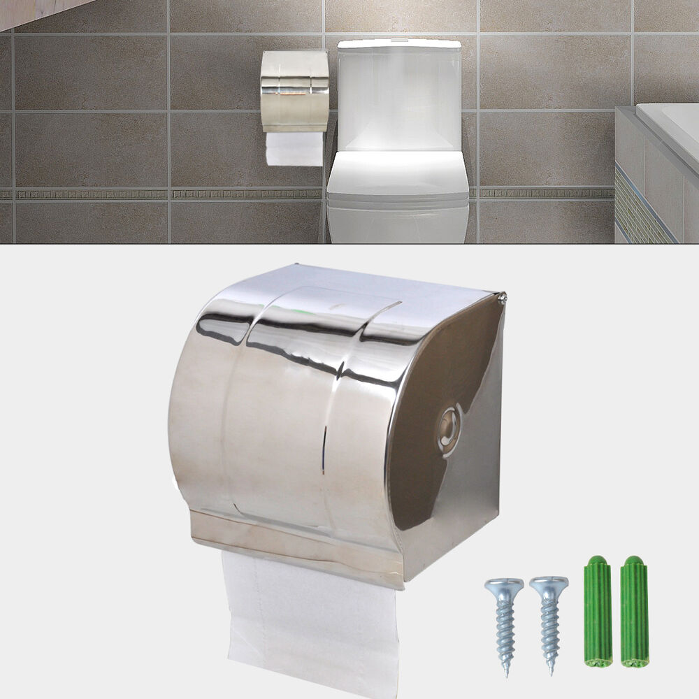 Stainless Steel Waterproof Toilet Paper Holder Roll Tissue