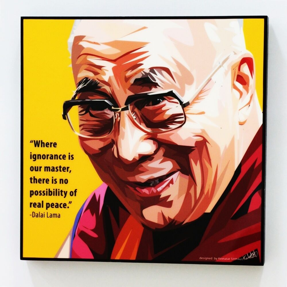 Wall Decals Pop Art : Dalai lama canvas quotes wall decals photo painting framed