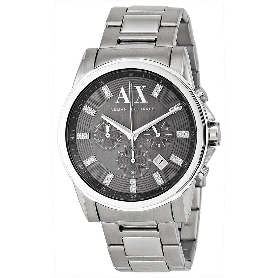 Armani exchange men 39 s ax2092 chronograph crystal stainless steel watch 723763184335 ebay for Armani exchange watches