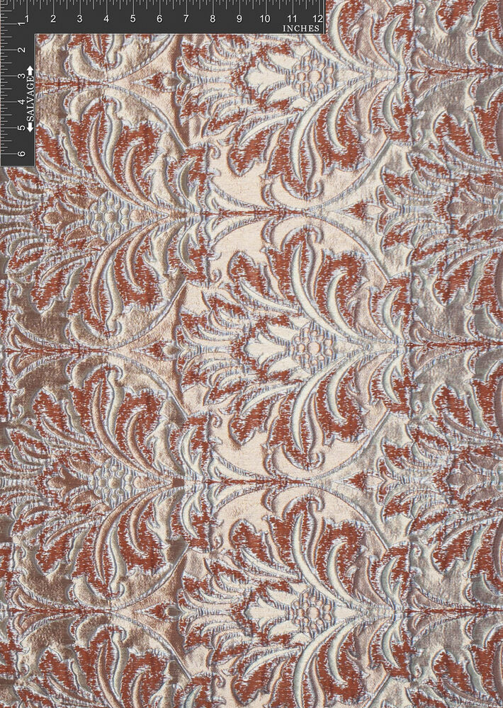 Damask glam polyester metallic jacquard designer damask for Fabric by the yard