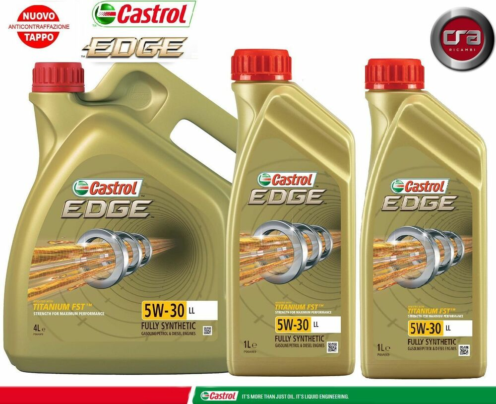 6 lt olio motore castrol edge 5w30 fst tagliando longlife ll vw ebay. Black Bedroom Furniture Sets. Home Design Ideas