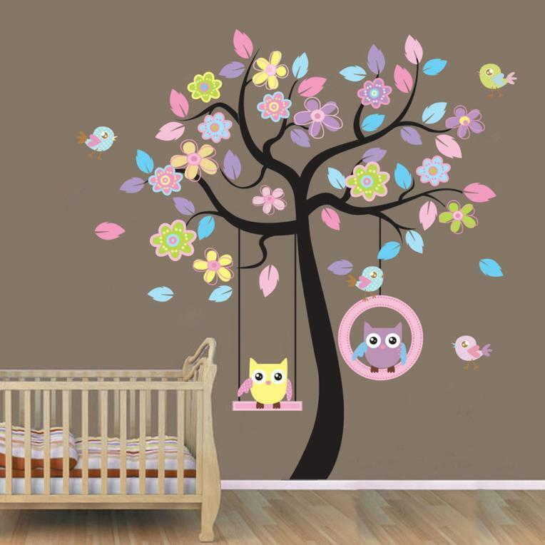 Diy Wall Decor For Baby : Diy wall stickers owl tree removable vinyl art baby